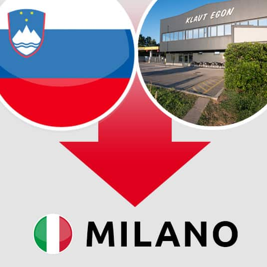 Prevoz Šempeter pri Gorici – Milano (IT)