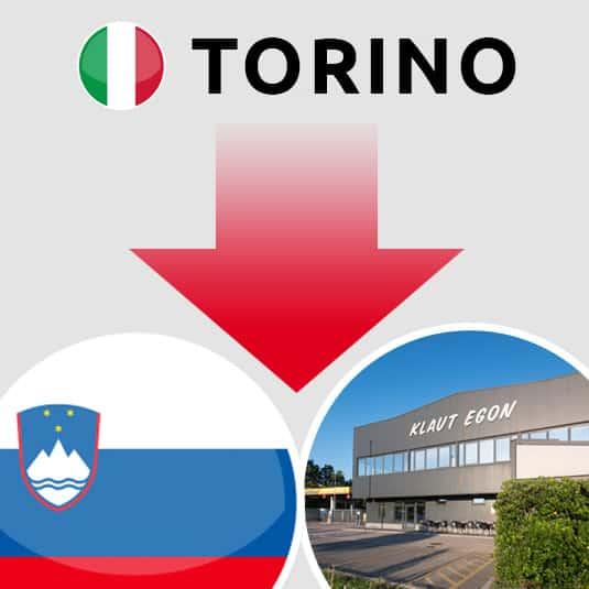 Prevoz Torino (IT) – Šempeter pri Gorici